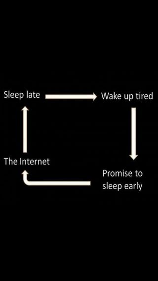 Обои на телефон устал, сон, интернет, wake, routine, late, early, daily