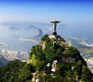 Обои на телефон христос, бразилия, исус, горы, бог, christ the redeemer