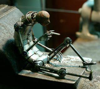 Обои на телефон уникальные, статуя, металл, крутые, арт, wow, the prisoner, sculpture, brotherton, art