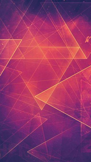 Обои на телефон треугольник, цветные, лазер, абстрактные