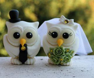 Обои на телефон торт, украшение, сова, птицы, пара, любовь, брак, wedlock, love, cake decoration, 960x800px
