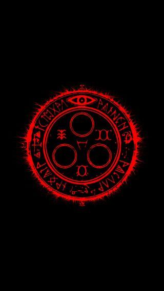 Обои на телефон холм, черные, ужасы, тихий, солнце, символ, красые, амолед, halo of the sun, halo, amoled
