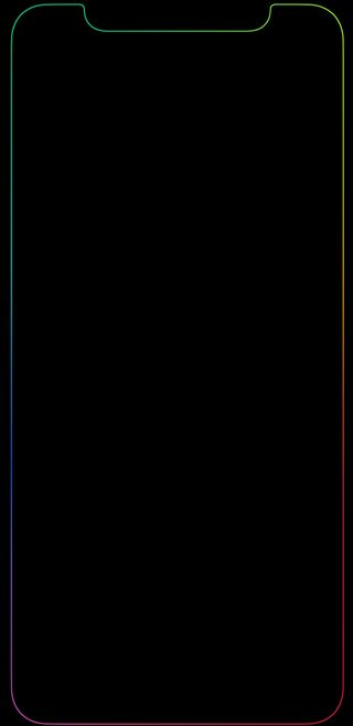 Обои на телефон экран, радуга, красочные, грани, айфон, iphone x edge screen, iphone x edge, iphone x, colourful rainbow