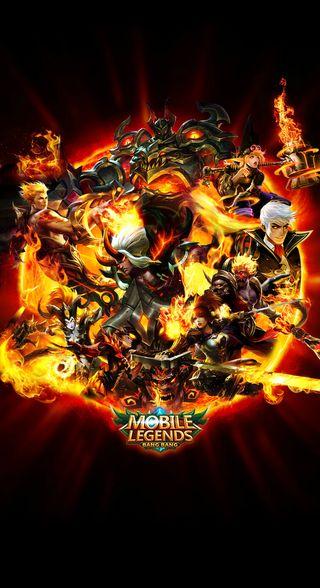 Обои на телефон мобильный, огонь, легенды, красые, tigreal, martis, fire red ml