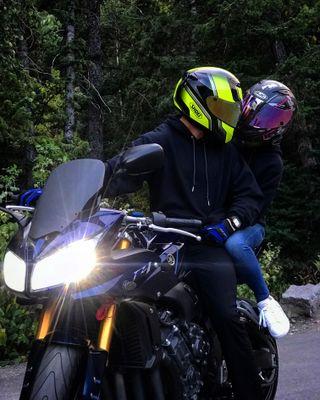Обои на телефон всадник, ночь, мотоциклы, fazer1000