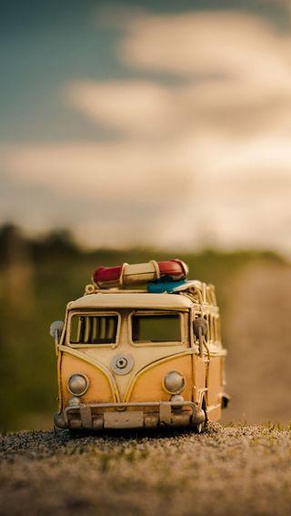 Обои на телефон фургон, фольксваген, машины, игрушка, volkswagen