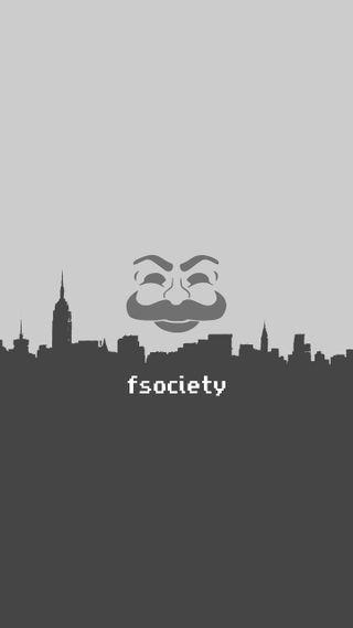 Обои на телефон хакер, темные, серые, робот, плоские, мистер, минимализм, два, mr robot, f society two tone, f society