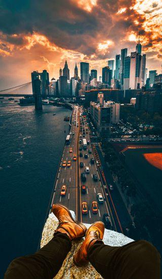 Обои на телефон успех, телефон, солнце, свет, прекрасные, пейзаж, озеро, облака, море, машины, здания, город, вода, phone wallpaper, man, landscape city, HI