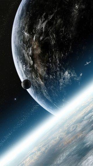 Обои на телефон тема, синие, планеты, планета, космос, земля, звезды, звезда, 4k