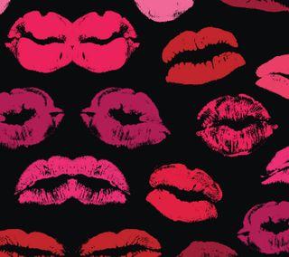 Обои на телефон поцелуй, красые, губы, lipstick, lasting kiss