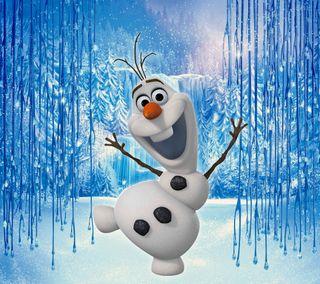 Обои на телефон холодное, снеговик, олаф, зима, дисней, disney