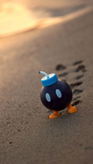 Обои на телефон песок, маленький, бомба, little bomb