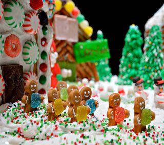 Обои на телефон конфеты, еда, рождество, gingerbread