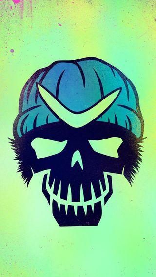 Обои на телефон череп, фильмы, самоубийца, отряд, логотипы, комиксы, dc, boomerang