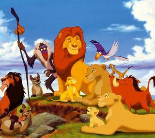 Обои на телефон мультики, лев, король