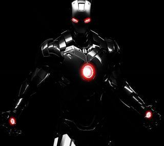Обои на телефон man, black iron man, черные, железный