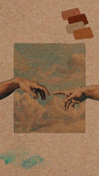 Обои на телефон рисунки, эстетические, руки, pintura, paperboard, manos, carton