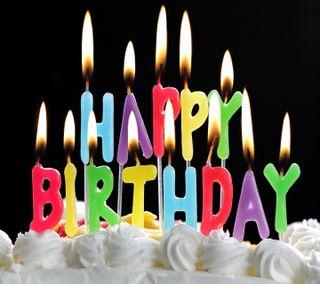 Обои на телефон пожелание, торт, счастливые, смайлики, свеча, день, happy, birth day