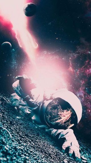 Обои на телефон планеты, луна, космос, космонавт, astronaut 2
