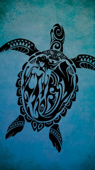 Обои на телефон черепаха, тату, русалка, племенные, океан, море, гавайи, tiki, honu