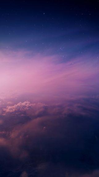 Обои на телефон фиолетовые, синие, розовые, облака, небо, айфон, iphone
