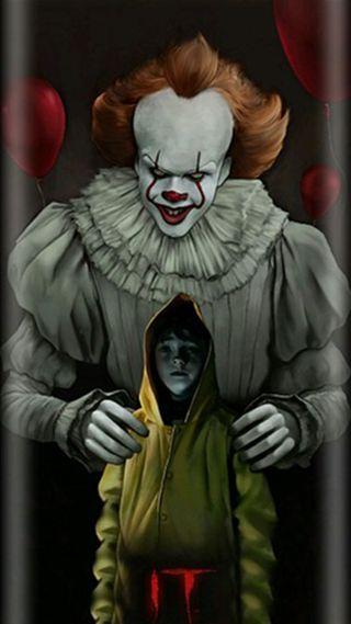 Обои на телефон клоун, ужасы, страшные, оно, грани, s8, s7