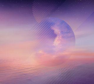 Обои на телефон фиолетовые, стандартные, самсунг, облака, красота, галактика, абстрактные, samsung, note8, galaxy note 8 wallpaper, galaxy note 8