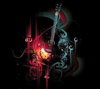 Обои на телефон гитара, абстрактные