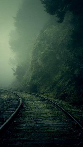 Обои на телефон приятные, природа, пейзаж, железная дорога, грани, s6, qhd