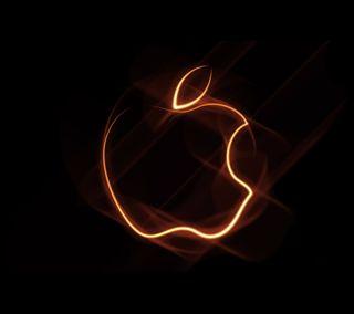Обои на телефон эпл, символ, неоновые, логотипы, икона, айфон, iphone, hd, apple