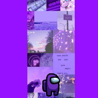 Обои на телефон фиолетовые, амонг, among us purple
