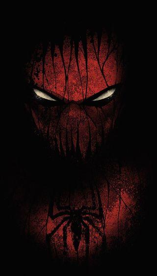 Обои на телефон человек паук, черные, красые