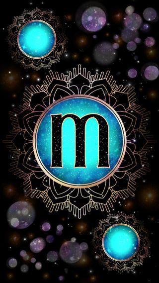 Обои на телефон сфера, мандала, светящиеся, магия, галактика, буквы, occult, magick mandala m, magick, initial m, galaxy