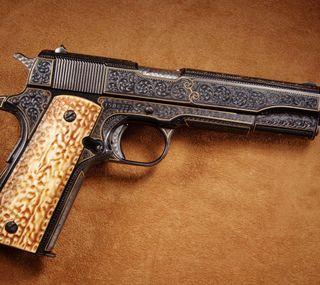 Обои на телефон пистолет, киллер, оружие