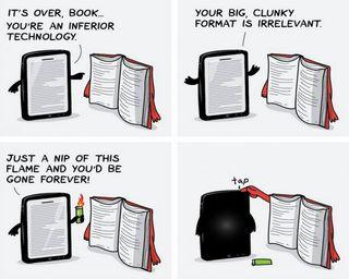 Обои на телефон книга, технологии, старые, против, книги, забавные, tab, conversation, books vs tab