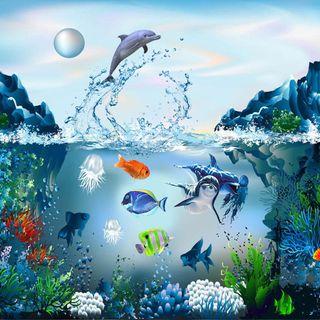 Обои на телефон apple, new aquarium, абстрактные, новый, дизайн, прекрасные, эпл, рыба, айпад, аквариум
