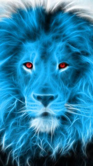 Обои на телефон фрактал, прекрасные, лев, fractal lion