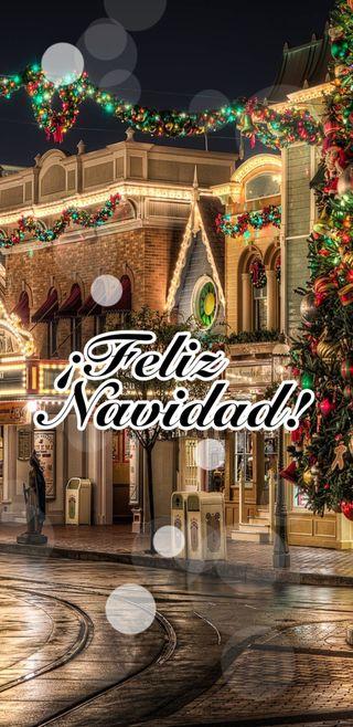 Обои на телефон снежные, замечательный, рождество, ночь, мир, зима, город, land, feliz navidad