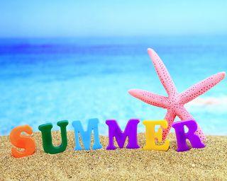Обои на телефон песок, пляж, морская звезда, море, лето, время, summer time