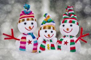 Обои на телефон снеговик, праздник, зима