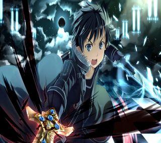 Обои на телефон сао, меч, кирито, арт, аниме, kirigaya, kazuto