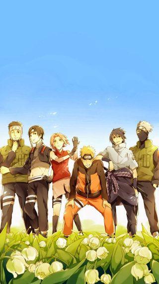 Обои на телефон команда, наруто, аниме, naruto team 7