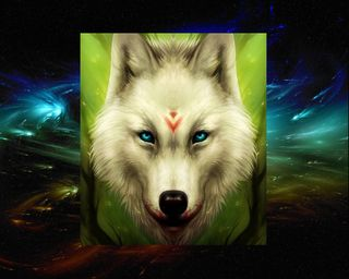 Обои на телефон тема, космос, волк, space  wolf