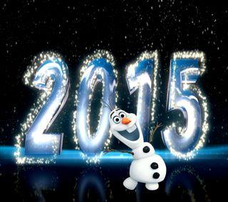 Обои на телефон год, холодное, счастливые, олаф, новый, милые, лед, зима, happy, 2015