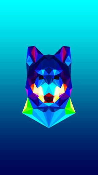 Обои на телефон многоугольник, зверь, животные, дикие, дизайн, волк, арт, абстрактные, polygon x wolf, art