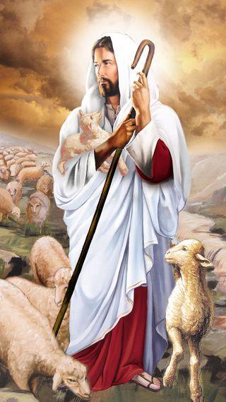 Обои на телефон христос, христианские, исус, the good shepherd