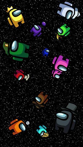 Обои на телефон цветные, космос, игра, амонг, among us wpp