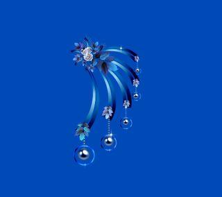 Обои на телефон синие, серебряные, жемчуг, дизайн, pearls silver 4