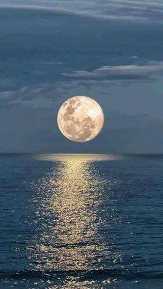 Обои на телефон море, луна, moon and sea, mnjk, ct