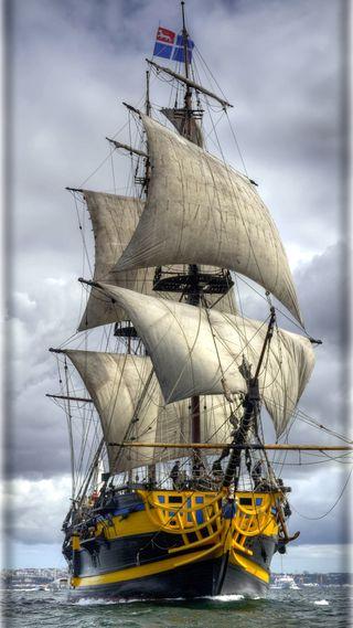 Обои на телефон корабли, море, navire